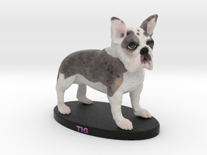 Custom Dog Figurine - Tig in Full Color Sandstone