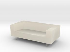 Sofa 1 24 in White Acrylic