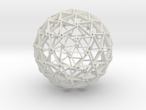 TriPent Sphere in White Natural Versatile Plastic