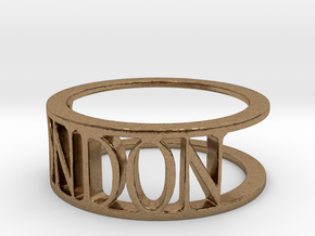 Typo LONDON Ring (Size 8) in Natural Brass