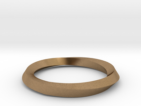 Mobius Wedding Ring-Size 7 in Natural Brass