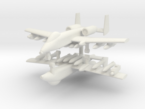 1/285 A-10 Thunderbolt II (Full Loadout) (x2) in White Natural Versatile Plastic