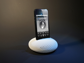 Sound Pebble(Amplifier for iPhone 5) in White Strong & Flexible