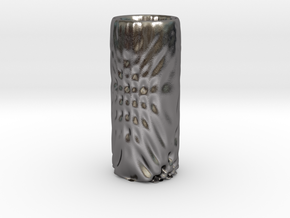 Vase 6 in Polished Nickel Steel