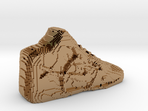 Pixelated Basketball Shoe by Suprint in Polished Brass