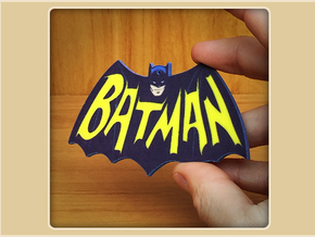 Bat-logo Ornament in Full Color Sandstone