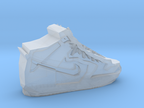 Geometric Basketball Shoe by Suprint in Smooth Fine Detail Plastic