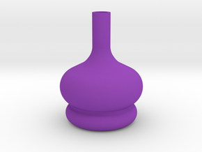 Vase with heart in Purple Processed Versatile Plastic