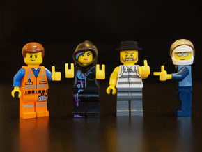 Custom lego scaled Hands set L in Yellow Strong & Flexible Polished