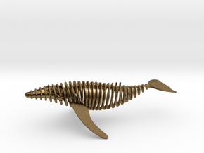 slicy bendy whale in Natural Bronze