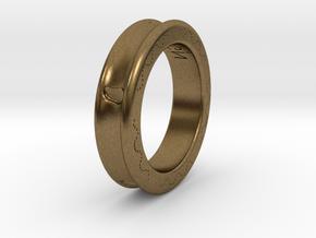 FootPrint Ring  in Natural Bronze