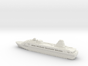 Pixellated Miniature Cruise Ship in White Natural Versatile Plastic