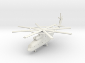 1/285 Mi-26 Halo Helicopter in White Natural Versatile Plastic