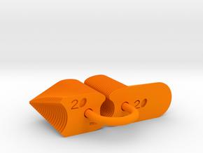 Radius Gauge Metric in Orange Processed Versatile Plastic