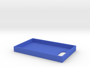 Business Card Tray 2 in Blue Strong & Flexible Polished
