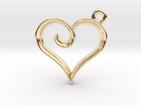 Tiny Heart Charm in 14K Yellow Gold