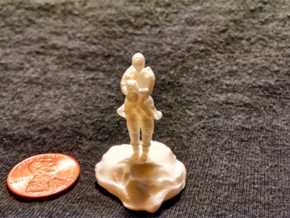Catrell, the Human Cleric Hermit with Holy Symbol in White Processed Versatile Plastic