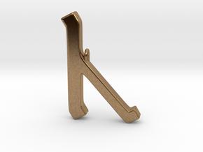 Rune Pendant - Cēn in Natural Brass