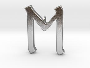 Rune Pendant - Eh in Natural Silver