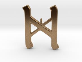 Rune Pendant - Dæg in Natural Brass