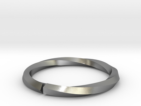Nurbs Wedding Ring-Size 4.5 in Natural Silver