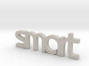 "smart car keychain ""smart"" in Natural Sandstone"