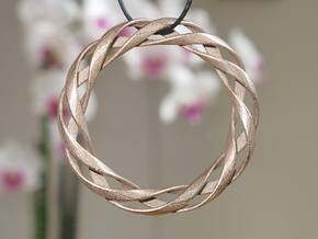 Toroid Spiral (3-strand, 1-piece, 1.0mm thickness) in Polished Bronzed Silver Steel