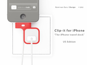 Clip-it US edition in Red Processed Versatile Plastic