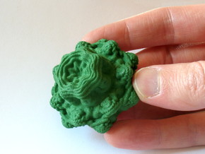 Mandelbulb - small, 50 mm in Green Processed Versatile Plastic