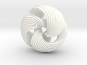 Mobius Knot in White Strong & Flexible Polished
