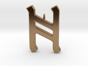Rune Pendant - Hægl in Natural Brass