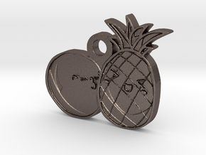 Love Fruits in Polished Bronzed Silver Steel