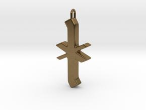 Rune Pendant - Īor in Natural Bronze
