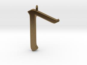 Rune Pendant - Lagu in Natural Bronze
