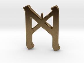 Rune Pendant - Mann in Natural Bronze