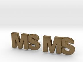 Monogram Cufflinks MS in Natural Bronze