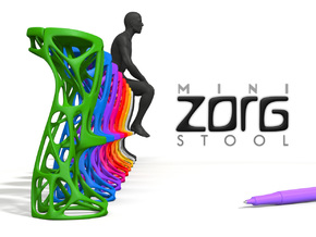 Mini ZORG Stool in Green Processed Versatile Plastic