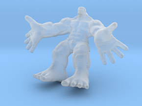 Hulk figure with nice details in Smooth Fine Detail Plastic