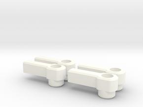 4 Thumb Levers for 3mm Cap Screw in White Processed Versatile Plastic