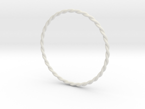DoubleTwist Bangle Bracelet LARGE in White Natural Versatile Plastic