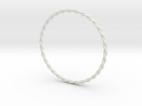 DoubleTwist Bangle Bracelet SMALL in White Natural Versatile Plastic