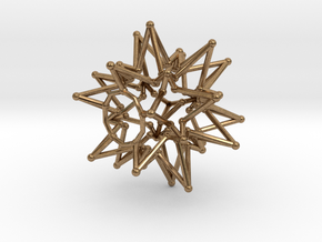 Tessa Star Core - Open Bottom - 5cm in Natural Brass