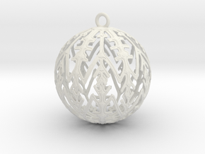 Snowflake Ornament in White Natural Versatile Plastic