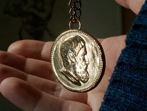 Epicurus Pendant 1.5 inches in Polished Bronze