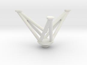 Mini Tripod in White Natural Versatile Plastic
