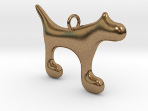Dog1 in Natural Brass