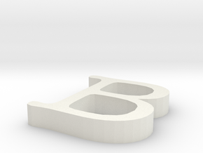B Letter in White Natural Versatile Plastic