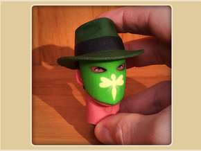 1:6 Scale Green Hornet Head in Full Color Sandstone