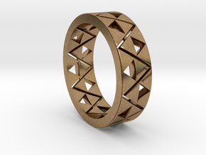Triforce Ring Size 10 in Natural Brass
