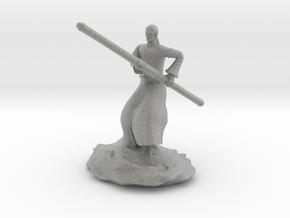 D&D Githzerai or Githyanki Monk Mini in Metallic Plastic
